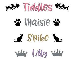 Personalised Pet Bowl Sticker,  Dog Cat Food Bowl, Dog Dish, Dog Bowl, Cat Bowl