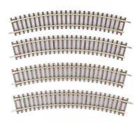 ROCO LINE Spur H0 42422 gebogene Gleise 30°, R2=358mm, 4 Stück, ohne Bettung