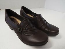 """EARTH ORIGINS BY EARTH """"ROXANNE"""" WOMEN'S BROWN LEATHER DRESS SHOES SIZE 7 M"""