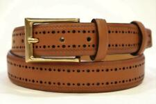 COLE HAAN MEN'S BROWN PERFORATED BELT SIZE 38 NWT MSRP $78 Ships Free