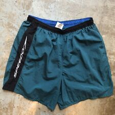 Vintage Speedo Swim Swimming Trunks Shorts Size Large  Draw String Lined Logo