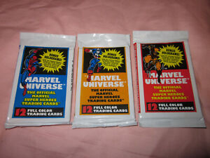 ~ (3 Packs) Brand New ~ Marvel Universe Series 1 Trading Card Packs 1990 Impel