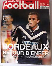 France Football du 21/11/2000; Bordeaux retour d'enfer/ Marlet/ Jodar/ Gallardo