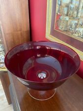Retired Party Lite Ruby Red 3 Wick Holder P9897 PartyLite