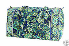 NWT Vera Bradley RHYTHM & BLUES Large & Small Duffel Cotton Duffle Lightweight