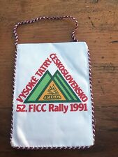 More details for vintage caravan pennant . vysoke tatry 52 .ficc rally 1991