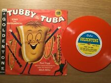 RECORD SINGLE 78 PICTURE COVER TUBBY TUBA RED VINYL MITCH MILLER GALA GOLDTONE