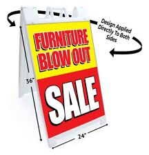 Furniture Blow Out Signicade 24x36 Aframe Sidewalk Sign Banner Decal