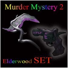 Roblox MM2 Elderwood SET Scythe Revolver Murder Mystery 2 Gun Messer Waffe Knife