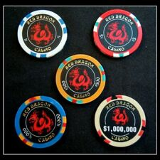 Rush ll Movie - Red Dragon Casino / 5 Pc. Set Table Chips / Movie Props