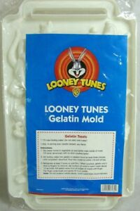 Vintage 1999 LOONEY TUNES Gelatin Mold 6 Cartoon Characters Tweety Bugs Porky