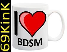 m127 I Love Heart BDSM cup mug SECRET santa XMAS Sex gift toy Gay Stag HEN