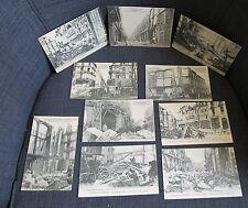 BOURGES série de 10 cartes postales incendie magasin des Nouvelles Galeries 1928