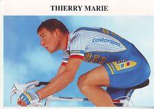 CYCLISME carte cycliste THIERRY MARIE équipe CASTORAMA