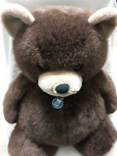 "Vintage 1984 Dakin Big 24"" Teddy Bear Brown Soft Plush Perfect Condition"