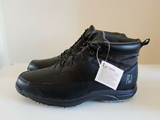 NEW Mens Footjoy Golf Hydrolite winter shoes boots black Size 11 ref35P0 spikes