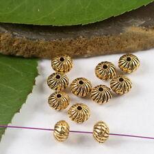 50pcs dark gold-tone spiral round spacer beads h2139