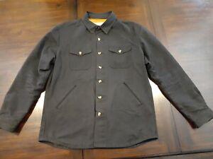 Dehen 1920 Waxed Canvas Crissman Overshirt Size L Black