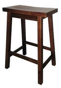 "24"" Wood Saddle Stool"
