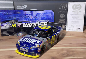 2009 JIMMIE JOHNSON 1/24 ELITE MARTINSVILLE WIN AUTOGRAPHED