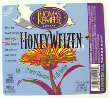 Thomas Kemper Brewing Co HONEYWEIZEN BEER  label WA 22oz