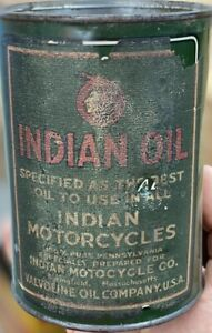Indian Motorcycle Oil Can Quart RARE!
