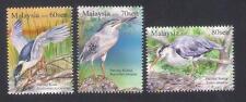 2015 MALAYSIA BIRDS - HERONS & BITTERNS (3v) MNH