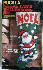 New listing Bucilla Latch Hook kit Santa's Noel Stocking No12850 New Sealed