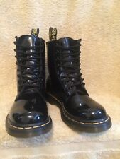 GENUINE DR MARTENS 1460 BLACK PATENT LEATHER BOOTS EX CON UK 6 EU 39 US8 RRP£120