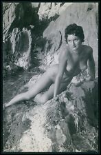 aa1 Nudist naturist Ile du Levant Fance Pinup full nude Pin Up old c1950s photo
