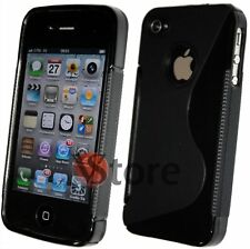 Cover Gel Silicone Black S-Line For APPLE iPhone 4/4G/4S