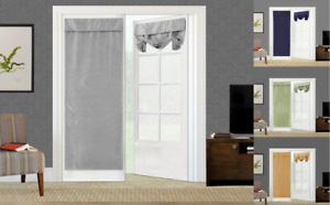 NEW 1PC ELEGANT ROLL UP LINED BLACKOUT WINDOW CURTAIN FRENCH DOOR PANEL