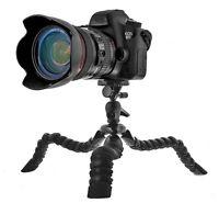 """Grand Trépied de Voyage 11.5"""" pour DSLR Caméra Super Flexible Avec Niveau"""