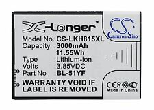 3.85V Battery for LG G Stylus HDTV Dual SIM G4 G4 Dual SIM BL-51YF Premium Cell
