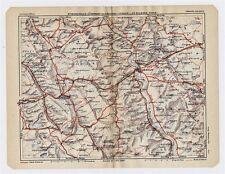 1930 ORIGINAL VINTAGE MAP OF VICINITY OF VERDUN / LORRAINE / FRANCE