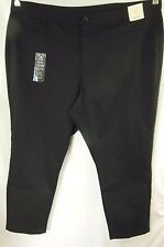 NEW BeMe Black Sateen Slim Leg Stretch Jeans Pants Plus Size 26 BNWT #M43