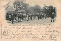Chemnitz Saxony Locomotive Transport Saxon Machine Factory Postcard 1899