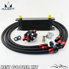 13 Row AN10 Oil Cooler +3/4*16& M20*1.5 Filter Relocation Adapter Hose Kit