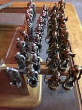 Star Wars Chess Set Gold & Silver 32 Plastic Pieces 2002 LFL