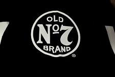Jack Daniels old no 7 Brand Logo Print Men's Black Short Manche T Shirt Size M