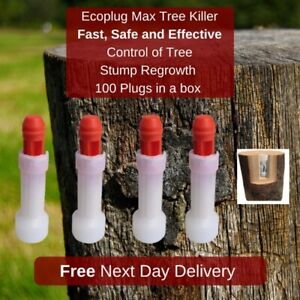 Eco Plug Max Tree Killer, Fast & Effective Control of Tree Stump Regrowth (x100)