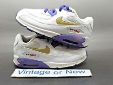 Girls Nike Air Max '90 White Purple Gold Running Toddler 408112-112 sz 10C
