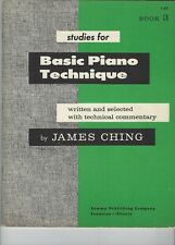 """Vintage """"Basic Piano Technique"""" Book 3 by James Ching, 1957"""