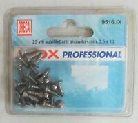 ORECA 25 viti autofilettante antisvito 3,5x13 mm in acciaio inox nuovo imballato