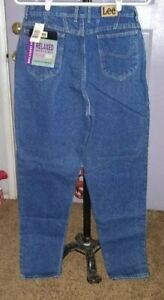 NWT  Women's  Relaxed  Lee  Riders  Tapered ankle  Blue Jeans 16 L  31.5 x 33