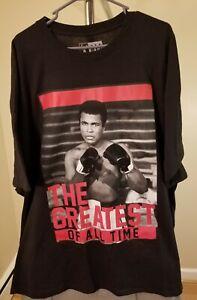 Muhammad Ali Classic Black The G.O.A.T 4XL T-Shirt