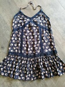 American eagle outfitters Strappy Black Floral Cotton Top XS