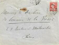 FRANCE 1908 COVER WITH 10c RED  TO PARIS     MY REF  174