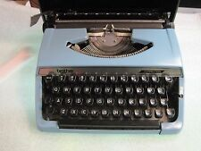 Blue Brother Correction Manual Portable Typewriter with Case AND Warranty