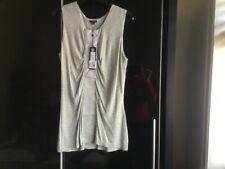 Full circle grey marl vest top size 14